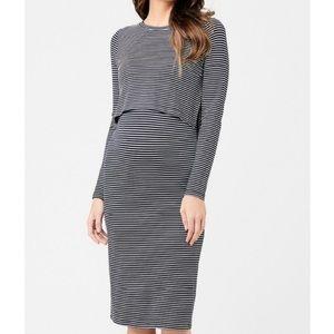 Ripe Maternity Kora Striped Nursing Dress